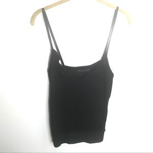Know One Cares Black Top Front Ruffle NWTS Size L